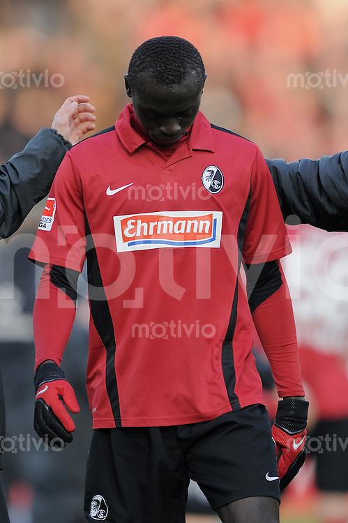 FUSSBALL   1. BUNDESLIGA   SAISON 2010/2011  25. SPIELTAG    06.03.2011 SC Freiburg - SV Werder Bremen Enttaeuschung SC Freiburg; Papiss Demba Cisse (SC Freiburg)