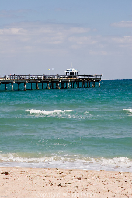Fishing pier offers alternatives to swimming.