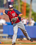 23 February 2013: Washington Nationals infielder Matt Skole warms up prior to a Spring Training Game against the New York Mets at Tradition Field in Port St. Lucie, Florida. The Mets defeated the Nationals 5-3 in their Grapefruit League Opening Day game. Mandatory Credit: Ed Wolfstein Photo *** RAW (NEF) Image File Available ***