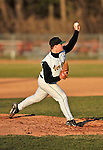 15 April 2008: University of Vermont Catamounts' pitcher Justin Albert, a Junior from Hull, MA, in action against the Dartmouth College Big Green at Historic Centennial Field in Burlington, Vermont. The Catamounts rallied from a 7-3 deficit going into the bottom of the ninth, to tie and then win in the tenth: 8-7 over Dartmouth in a non-conference NCAA game...Mandatory Photo Credit: Ed Wolfstein Photo