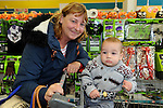 FREE PIC - NO REPRO FEE<br /> 24/09/2015 - Blackpool, Cork<br /> 14-month-old Archie O'Sulllivan from Knocknaheeny along with his granny Jacinta Lynch from Skanakiel  looking for some bargains at the official opening of the new Dealz store at Blackpool Retail Park, Cork.<br /> Pic: Brian Lougheed