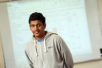 Pictured: Omar at the Accounts Class, The Parade Campus, Cardiff, south Wales. Wednesday 08 October 2014<br /> Re: Cardiff and Vale College.