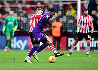Lincoln City's Michael O'Connor battles with  Grimsby Town's Mitch Rose<br /> <br /> Photographer Andrew Vaughan/CameraSport<br /> <br /> The EFL Sky Bet League Two - Lincoln City v Grimsby Town - Saturday 19 January 2019 - Sincil Bank - Lincoln<br /> <br /> World Copyright © 2019 CameraSport. All rights reserved. 43 Linden Ave. Countesthorpe. Leicester. England. LE8 5PG - Tel: +44 (0) 116 277 4147 - admin@camerasport.com - www.camerasport.com