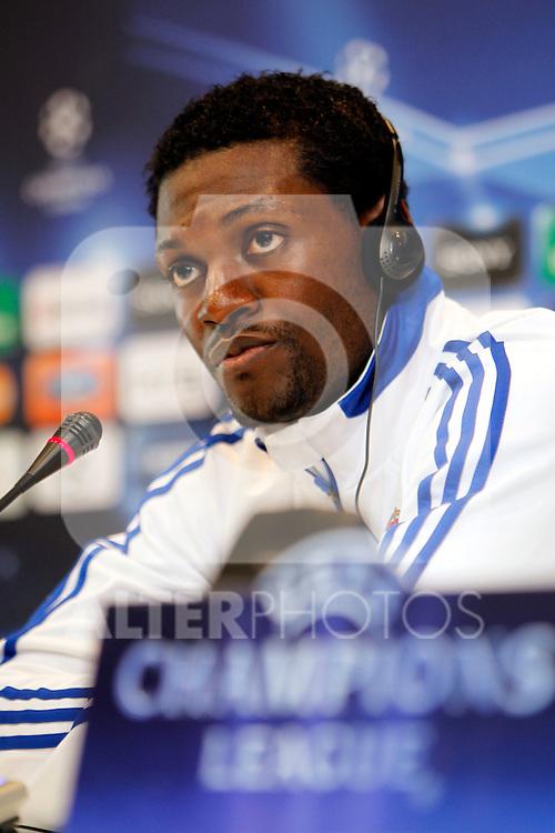 Madrid (15/03/2011).- Ciudad deportiva de Valdebebas..Rueda de prensa de Emmanuel Adebayor....Photo: Alex Cid-Fuentes / ALFAQUI..