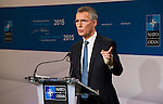 Brussels - Belgium, January 28, 2016 -- Jens STOLTENBERG, NATO Secretary General, presents his Annual Report on 2015, at Residence Palace -- Photo: © HorstWagner.eu
