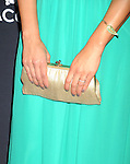 BEVERLY HILLS, CA- FEBRUARY 22: Actress Angelique Cabral (handbag, bracelet, ring detail) at the 16th Costume Designers Guild Awards at The Beverly Hilton Hotel on February 22, 2014 in Beverly Hills, California.