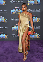"Myeeuh Marija Abney at the world premiere for ""Black Panther"" at the Dolby Theatre, Hollywood, USA 29 Jan. 2018<br /> Picture: Paul Smith/Featureflash/SilverHub 0208 004 5359 sales@silverhubmedia.com"