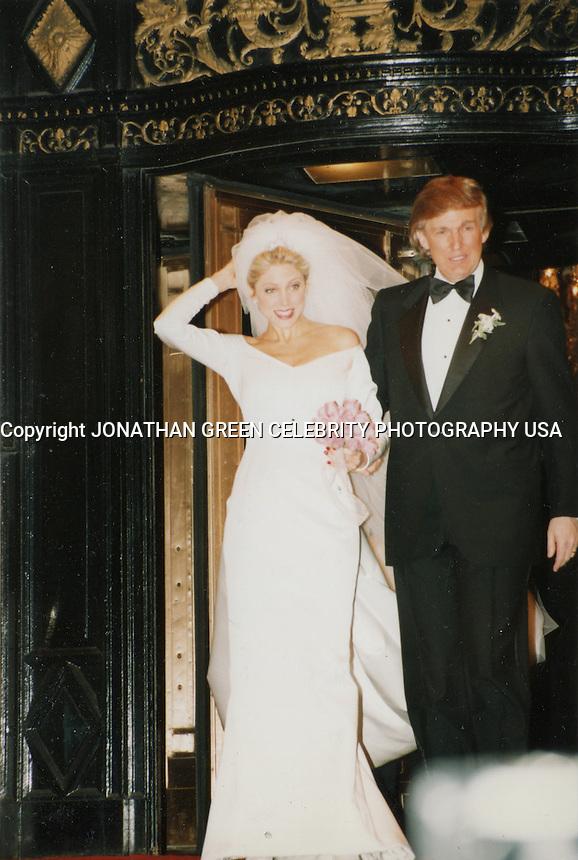 Donald Trump &amp; Marla Maples Wedding 1993 NYC<br /> By Jonathan Green