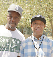 LOS ANGELES, CA - JULY 08: Rapper General Jeff and Russell Simmons attend the UNITY Protest Mach at the Los Angeles Police Department in Downtown Los Angeles on July 8, 2016 in Los Angeles, California. Credits: Koi Sojer/Snap'N U Photos/MediaPunch
