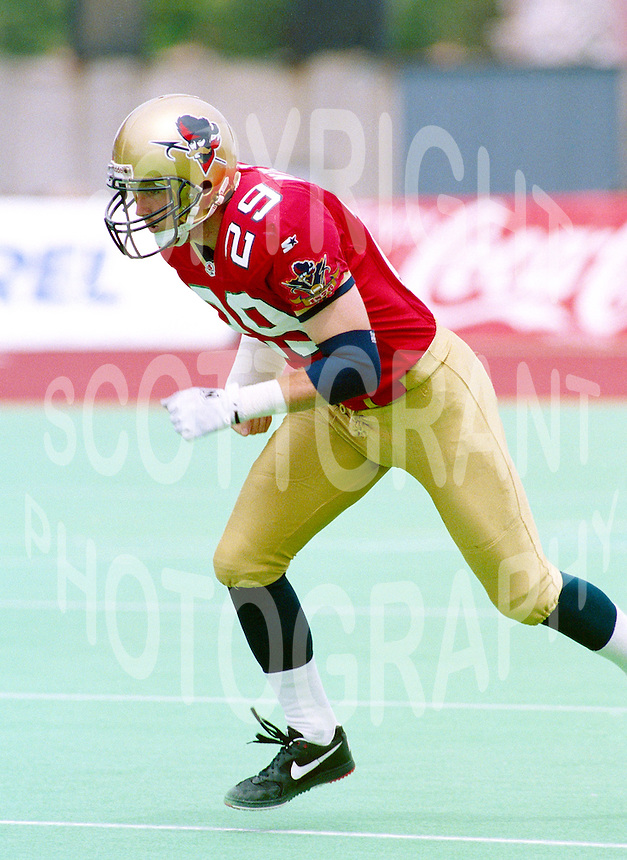 Dan Murphy Ottawa Rough Riders 1995. Photo F. Scott Grant