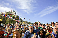 The Crowd waiting for the pressentation at Bells Beach. Mick Fanning (AUS) won the 2001 Rip Curl Pro at Bells Beach, Victoria, Australia. Fanning was a sponsors wildcard and stormed the field, defeating Danny Wills (AUS) in the finals. Photo: joliphotos.com