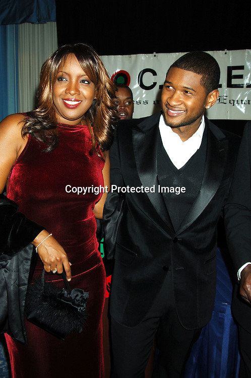 Melisa Morgan and Usher ..at The 22nd Annual Congress of Racial Equality Martin Luther King Awards Dinner  on January 16, 2006 at The New York Sheraton Hotel and Towers. Usher was honored and the People of Mississippi were honored for the strides they have made in race relations, which was accepted by Governor Haley Barbour. ..Photo by Robin Platzer, Twin Images