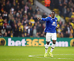 Everton's Romelu Lukaku celebrates scoring his sides first goal during the Premier League match at Vicarage Road Stadium, London. Picture date December 10th, 2016 Pic David Klein/Sportimage