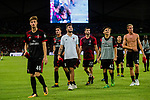 AC Milan players celebrating after winning Bayern during the 2017 International Champions Cup China match between FC Bayern and AC Milan at Universiade Sports Centre Stadium on July 22, 2017 in Shenzhen, China. Photo by Marcio Rodrigo Machado/Power Sport Images