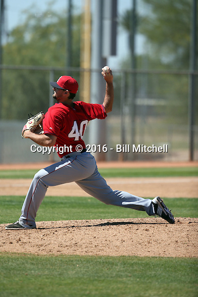 Garrett Nuss - Los Angeles Angels 2016 spring training (Bill Mitchell)