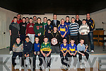 .Medal Winners: St. Senan's Under 14 Team who  were presented with their U/14 County League Medals at a function in The Clubhouse in Mountcoal on Monday evening last by Kerry football star Colm Cooper.Front LR - Cathal Kennelly, Adrian O'Mahony, Darragh O'Reagan, Darragh Kennelly, David Behan, Gearoid Galvin, Chris McKenna.Kneeling - Oliver Porter....Back LR- Alan Kelly, Jerry Foran, Sean T. Dillon, David Foran,(Sel),  Mike Keane, James Keane,(Sel) Eoin O'Connell, Colin Browne, Bill Keane, Colm Cooper, Donnacha Brosnan, James Relihan, Alan Kennelly, Mike McKenna, Paul Kerins, Mauirce Whelan,(Sel)..
