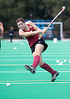 STANFORD, CA - November3, 2011: Katie Mitchell warms up before the Stanford vs. Appalachian State opener of  the  NorPac Championship at the Varsity Turf on the Stanford campus Thursday afternoon.<br /> <br /> Stanford defeated Appalachian State 7-0.