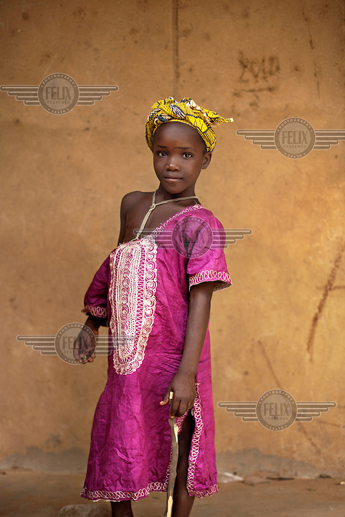 A portrait of a girl at a school in Bambougou.