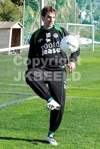 voetbal fc groningen trainingskamp marbella seizoen 2008-2009 07-01-2009  goran lovre .