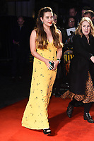 "LONDON, UK. October 08, 2019: Katherine Langford arriving for the ""Knives Out"" screening as part of the London Film Festival 2019 at the Odeon Leicester Square, London.<br /> Picture: Steve Vas/Featureflash"