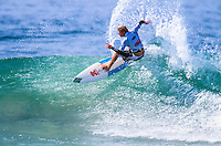 """Taj Burrow (AUS) taking out his first ASP WCT win at the 1999 Coke Surf Classic Manly, Sydney, Australia.<br /> <br /> Taj Burrow (AUS) was born on the 2nd June 1978, in Busselton, Western Australia. He caught his first waves when he was only seven and, ten years later, he earned a place in the ASP World Tour.<br /> <br /> However, Burrow declined the spot because he considered he was """"too young to do the tour full-on."""" One year later, the young gun claimed the """"Rookie of the Year"""" award. Taj's first big win was at the 1999 Coke Surf Classic Manly, but he would conquer a total of 12 Dream Tour event trophies throughout his career.. Photo: joliphotos.com"""