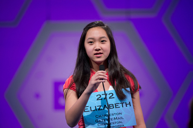 Speller 272 Elizabeth Koh competes in the preliminary rounds of the Scripps National Spelling Bee at the Gaylord National Resort and Convention Center in National Habor, Md., on Wednesday,  May 30, 2012. Photo by Bill Clark