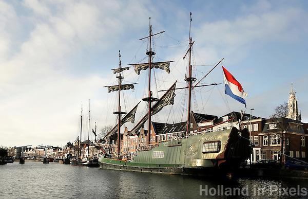Nederland Haarlem 2016. Driemaster Soeverein. Foto Berlinda van Dam / Hollandse Hoogte