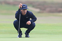 Thorbjorn Olesen (DEN) on the 12th green during Round 1of the Sky Sports British Masters at Walton Heath Golf Club in Tadworth, Surrey, England on Thursday 11th Oct 2018.<br /> Picture:  Thos Caffrey | Golffile<br /> <br /> All photo usage must carry mandatory copyright credit (© Golffile | Thos Caffrey)