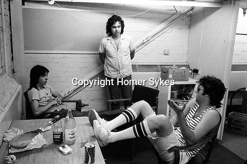 "Paul and Linda McCartney Wings Tour 1975.  Paul in discussion in rehearsal dressing room with Wings band members, Jimmy McCulloch and drummer Joe English. Elstree,  London England. The photographs from this set were taken in 1975. I was on tour with them for a children's ""Fact Book"". This book was called, The Facts about a Pop Group Featuring Wings. Introduced by Paul McCartney, published by G.Whizzard. They had recently recorded albums, Wildlife, Red Rose Speedway, Band on the Run and Venus and Mars. I believe it was the English leg of Wings Over the World tour. But as I recall they were promoting,  Band on the Run and Venus and Mars in particular."