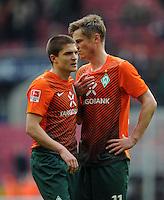 FUSSBALL   1. BUNDESLIGA   SAISON 2011/2012   29. SPIELTAG 1. FC Koeln - SV Werder Bremen                           07.04.2012 Aleksandar Ignjovski (li) und Markus Rosenberg (re, beide SV Werder Bremen) sind nach dem Abpfiff enttaeuscht