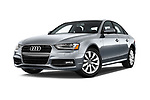 Stock pictures of low aggressive front three quarter view of 2015-2016 Audi A4 Premium 4 Door Sedan