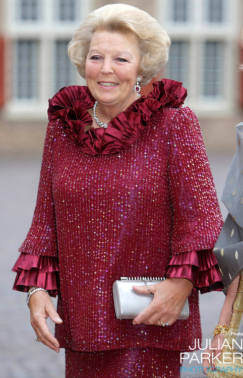 Queen Beatrix of Holland arrives for a Reception at Het Loo Palace in Apeldoorn, to celebrate the 40th Birthday of Crown Prince Willem Alexander, The Prince turned forty in April earlier this year.