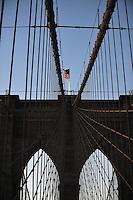 Nov. 12, 2010 - New York City, NY - The Brooklyn Bridge at sunset November 12, 2010. (Photo by Alan Greth)