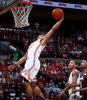 Ohio State Buckeyes guard Lenzelle Smith Jr. (32) stretches for a slam dunk during Friday's NCAA Division I basketball game against the Louisiana-Monroe Warhawks at Value City Arena in Columbus on December 27, 2013. Ohio State led the game at halftime, 41-20. (Barbara J. Perenic/The Columbus Dispatch)