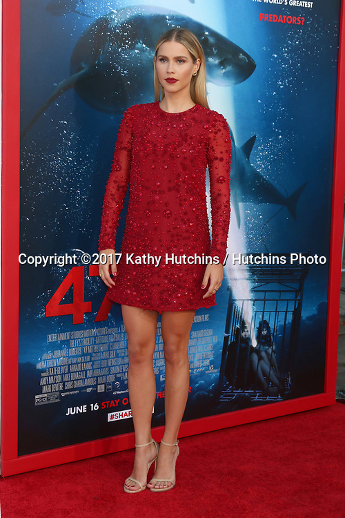 """LOS ANGELES - JUN 12:  Claire Holt at the """"47 Meters Down"""" Premiere at the Village Theater on June 12, 2017 in Westwood, CA"""