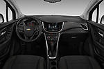 Stock photo of straight dashboard view of a 2019 Chevrolet Trax LS 5 Door SUV