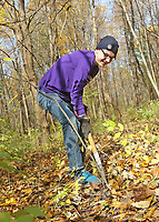 Students worked at removing invasive species of plants at Cool Creek Park in Westfield.  Senior Joe Schmid
