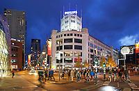 Nederland Eindhoven  2015. Centrum van Eindhoven bij avond. Foto Berlinda van Dam / Hollandse Hoogte
