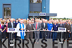 OFFICIAL: Stan McCarthy, CEO of Kerry group, cuts the tape to officially open the new Kerry Group store in Castleisland on Tuesday.   Copyright Kerry's Eye 2008