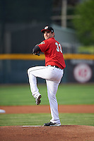 Erie SeaWolves starting pitcher Cory Riordan (33) during a game against the Richmond Flying Squirrels on May 27, 2016 at Jerry Uht Park in Erie, Pennsylvania.  Richmond defeated Erie 7-6.  (Mike Janes/Four Seam Images)