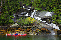 Kayaking in Hidden Bay, Prince William Sound, Chugach National Forest, Alaska.