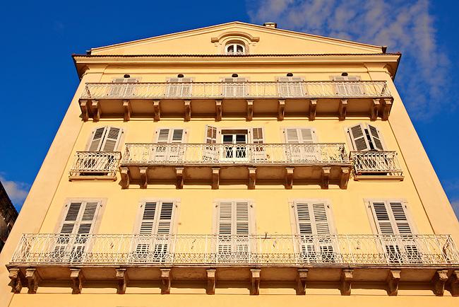 Italian Style aprtments of Corfu City, Greek Ionian Islands
