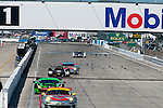No. 2 Audi r18 chases a row of back-markers during action from the 2012 12 hours of Sebring.