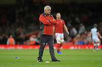 Wales Head Coach Warren Gatland during the pre match warm up<br /> <br /> Photographer Ian Cook/CameraSport<br /> <br /> 2019 Under Armour Summer Series - Wales v Ireland - Saturday 31st August 2019 - Principality Stadium - Cardifff<br /> <br /> World Copyright © 2019 CameraSport. All rights reserved. 43 Linden Ave. Countesthorpe. Leicester. England. LE8 5PG - Tel: +44 (0) 116 277 4147 - admin@camerasport.com - www.camerasport.com