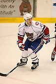 March 15, 2009:  Center Mathieu Aubin (41) of the Hamilton Bulldgos, AHL affiliate of Montreal Canadians, during the third period of a regular season game at the Blue Cross Arena in Rochester, NY.  Hamilton defeated Rochester 4-3 in a shoot out.  Photo Copyright Mike Janes Photography 2009