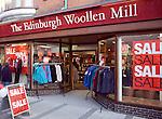 The Edinburgh Woollen Mill shop, January sale, Felixstowe