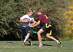 Loyola White B at Gardner Bullis B flag  football, Oct. 18, 2013.