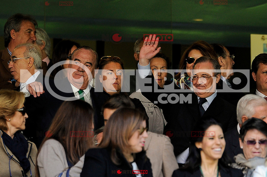 Real Madrid´s president Florentino Perez during 2014-15 La Liga match between Real Madrid and Granada at Santiago Bernabeu stadium in Madrid, Spain. April 05, 2015. (ALTERPHOTOS/Luis Fernandez) /NORTEphoto.com