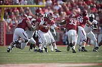 NWA Democrat-Gazette/J.T. WAMPLER Image from Arkansas' 28-7 loss to TCU Saturday Sept. 9, 2017 at Donald W. Reynolds Razorback Stadium in Fayetteville.