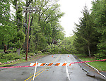 Storm Damage on Morris Avenue in Mountain Lakes, New Jersey